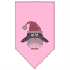 Mirage Pet Products Santa Penguin Rhinestone Bandana Light Pink Large