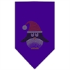 Mirage Pet Products Santa Penguin Rhinestone Bandana Purple Large