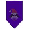 Mirage Pet Products Santa Penguin Rhinestone Bandana Purple Small