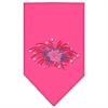Mirage Pet Products Fireworks Rhinestone Bandana Bright Pink Large
