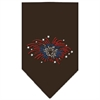 Mirage Pet Products Fireworks Rhinestone Bandana Cocoa Small