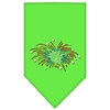 Mirage Pet Products Fireworks Rhinestone Bandana Lime Green Large