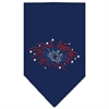 Mirage Pet Products Fireworks Rhinestone Bandana Navy Blue large