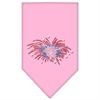 Mirage Pet Products Fireworks Rhinestone Bandana Light Pink Small