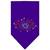 Mirage Pet Products Fireworks Rhinestone Bandana Purple Large