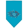 Mirage Pet Products Fireworks Rhinestone Bandana Turquoise Large