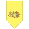 Mirage Pet Products Fireworks Rhinestone Bandana Yellow Large