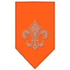 Mirage Pet Products Fleur De Lis Rhinestone Bandana Orange Large