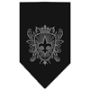 Mirage Pet Products Fleur De Lis Shield Rhinestone Bandana Black Large