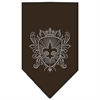 Mirage Pet Products Fleur De Lis Shield Rhinestone Bandana Cocoa Large