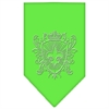 Mirage Pet Products Fleur De Lis Shield Rhinestone Bandana Lime Green Small