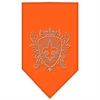 Mirage Pet Products Fleur De Lis Shield Rhinestone Bandana Orange Small