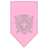 Mirage Pet Products Fleur De Lis Shield Rhinestone Bandana Light Pink Large