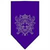 Mirage Pet Products Fleur De Lis Shield Rhinestone Bandana Purple Small