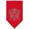 Mirage Pet Products Fleur De Lis Shield Rhinestone Bandana Red Large