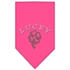 Mirage Pet Products Four Leaf Clover Rhinestone Bandana Bright Pink Small