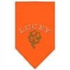 Mirage Pet Products Four Leaf Clover Rhinestone Bandana Orange Small