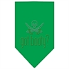 Mirage Pet Products Got Booty Rhinestone Bandana Emerald Green Large