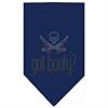 Mirage Pet Products Got Booty Rhinestone Bandana Navy Blue large