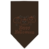 Mirage Pet Products Happy Halloween Rhinestone Bandana Cocoa Large