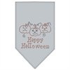 Mirage Pet Products Happy Halloween Rhinestone Bandana Grey Small