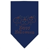 Mirage Pet Products Happy Halloween Rhinestone Bandana Navy Blue large