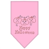 Mirage Pet Products Happy Halloween Rhinestone Bandana Light Pink Large