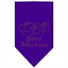 Mirage Pet Products Happy Halloween Rhinestone Bandana Purple Large