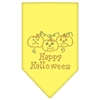 Mirage Pet Products Happy Halloween Rhinestone Bandana Yellow Large