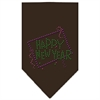 Mirage Pet Products Happy New Year Rhinestone Bandana Cocoa Large
