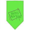 Mirage Pet Products Happy New Year Rhinestone Bandana Lime Green Small