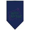 Mirage Pet Products Happy New Year Rhinestone Bandana Navy Blue Small