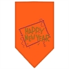 Mirage Pet Products Happy New Year Rhinestone Bandana Orange Large