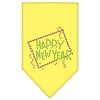 Mirage Pet Products Happy New Year Rhinestone Bandana Yellow Small