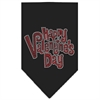 Mirage Pet Products Happy Valentines Day Rhinestone Bandana Black Large