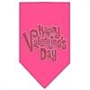 Mirage Pet Products Happy Valentines Day Rhinestone Bandana Bright Pink Large