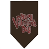 Mirage Pet Products Happy Valentines Day Rhinestone Bandana Brown Small