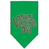Mirage Pet Products Happy Valentines Day Rhinestone Bandana Emerald Green Large
