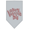 Mirage Pet Products Happy Valentines Day Rhinestone Bandana Grey Large