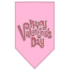 Mirage Pet Products Happy Valentines Day Rhinestone Bandana Light Pink Large