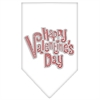 Mirage Pet Products Happy Valentines Day Rhinestone Bandana White Large