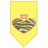 Mirage Pet Products Zebra Heart Rhinestone Bandana Yellow Large