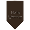 Mirage Pet Products Home Wrecker Rhinestone Bandana Cocoa Small
