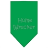 Mirage Pet Products Home Wrecker Rhinestone Bandana Emerald Green Large