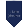 Mirage Pet Products Home Wrecker Rhinestone Bandana Navy Blue Small