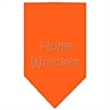 Mirage Pet Products Home Wrecker Rhinestone Bandana Orange Small