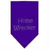 Mirage Pet Products Home Wrecker Rhinestone Bandana Purple Large