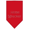 Mirage Pet Products Home Wrecker Rhinestone Bandana Red Large
