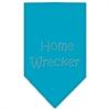 Mirage Pet Products Home Wrecker Rhinestone Bandana Turquoise Small