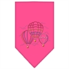 Mirage Pet Products Hot Air Balloons Rhinestone Bandana Bright Pink Small